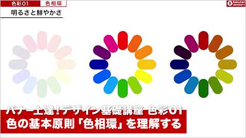 【色彩01】バナー上達!デザイン基礎講座~色の基本原則「色相環」を理解する